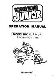 Donkey Kong Junior Operation Manual : Free Download