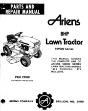 ariens_1200_fairway_parts_manual_1966_72 : Ariens Company