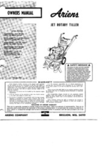 ariens_jet_rotary_tiller_owners_manual : Ariens Company