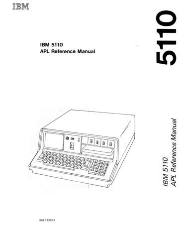 ibm :: 5110 :: SA21-9303-0 IBM 5110 APL Reference Manual