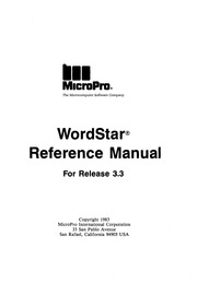 Radio Shack Hardware Manual: Wordstar Rel 4 for CPM (1979