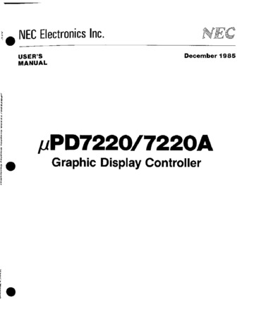 nec :: uPD7220-uPD7220A User Manual Dec85 : Free Download