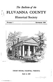 The Bulletin of the Fluvanna County Historical Society