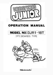 Arcade Manual: Donkey Kong Junior (DJR1-18T), by Nintendo