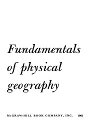 Fundamentals Of Physical Geography : Trewartha,Glenn