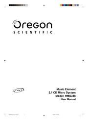 Oregon Scientific Music Element 2.1 CD Micro System Model