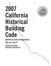 Title 24, Part 8, 2007 California Historical Building Code