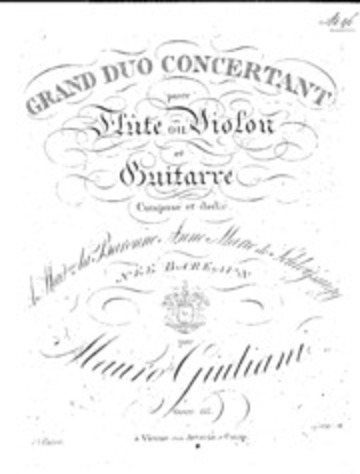 Grand Duo Concertant for Guitar and Flute, Op.85