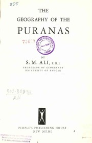 Geography of the Puranas : Ali, S.M. : Free Download