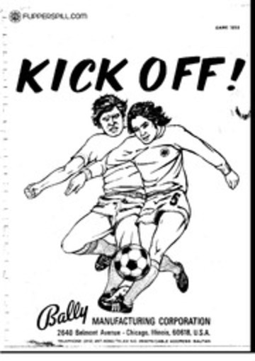 Arcade Manual: Kick Off, by Bally Manufacturing
