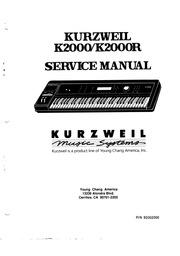 Kurzweil: K2000 K2000R SERVICE MANUAL : Free Download