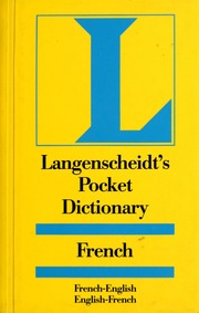Langenscheidt's pocket French dictionary : French-English. English-French : Langenscheidt (Firm) : Free Download. Borrow. and Streaming : Internet ...