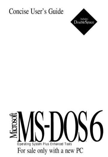 MS-DOS 6 User Guide : Microsoft : Free Download, Borrow