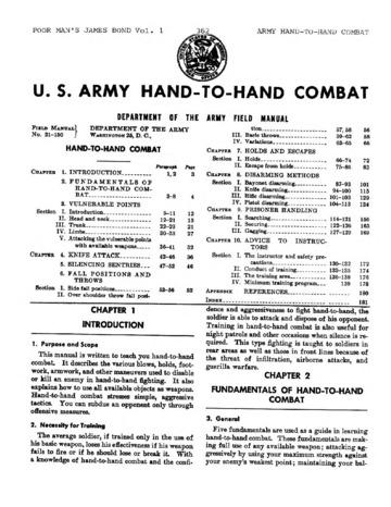 FM 21-150 Hand to Hand Combat 1954 : Free Download, Borrow