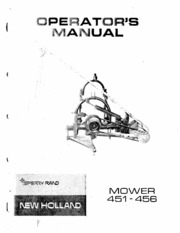 new_holland_model_NH_451_sickle_mower_owners_manual : New