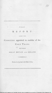 Select Committee on State of Corn Trade between Great