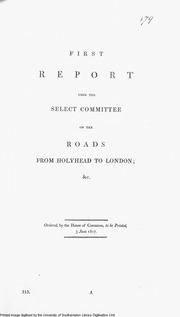 Select Committee on the roads from Holyhead to London