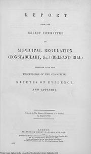 Municipal Regulation (Constabulary) Belfast Bill : Select