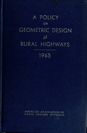 AASHTO Green: A Policy on Geometric Design of Highways and ...