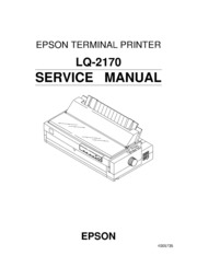 Epson LQ-2180 Service Manual : Free Download, Borrow, and