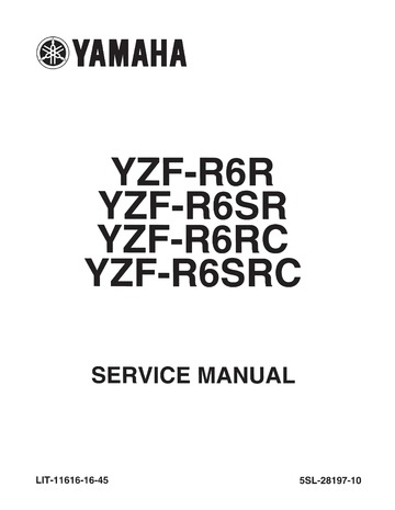 Yamaha R6 Service Manual 2003 : Free Download, Borrow, and