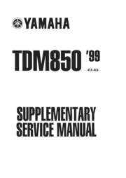 Yamaha TDM 850 Supplementary Service Manual : Free