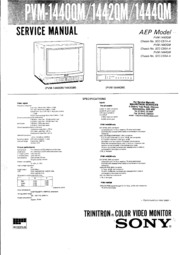 Sony Monitor Manual: PVM 1440QM 1442QM 1444QM Service