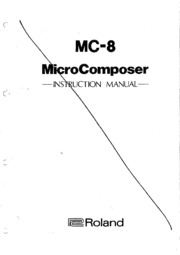 Roland MC-8 Owner's Manual : Free Download, Borrow, and
