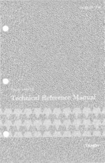 Tandy 1000 TX Technical Reference Manual : Tandy