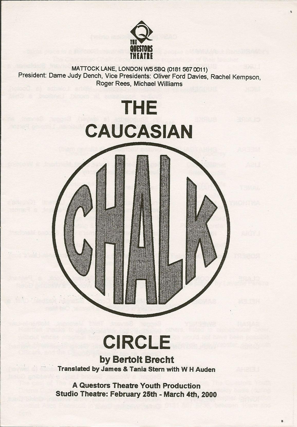 The Questors Theatre Archive: The Caucasian Chalk Circle 2000