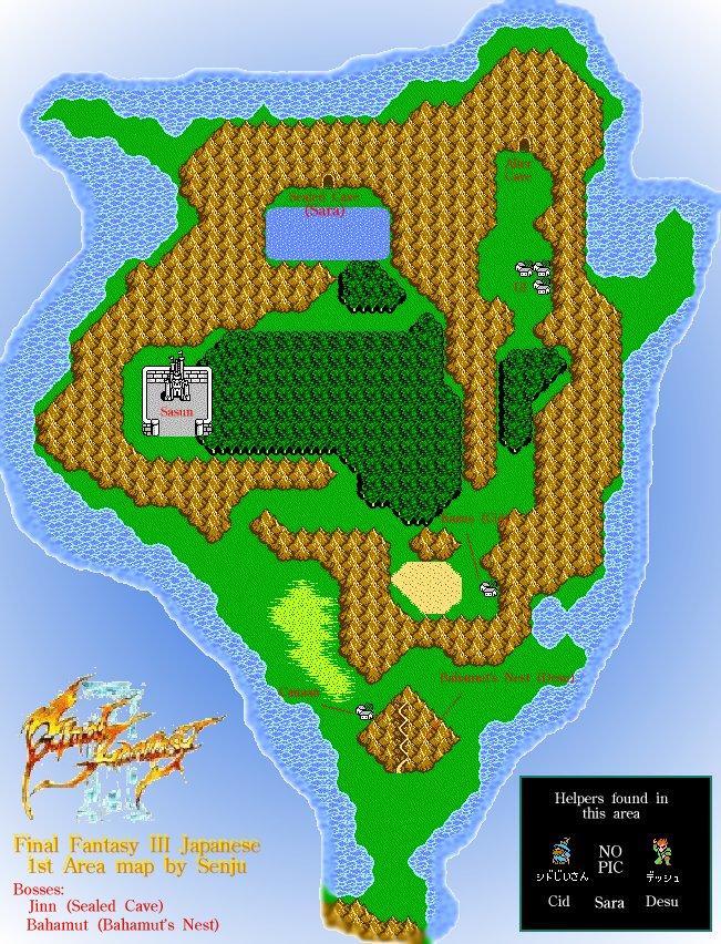 Final Fantasy Iii World Map : final, fantasy, world, Final, Fantasy, World, Location, Catalog, Online