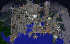 Imperial City from above - Nighttime, South is up