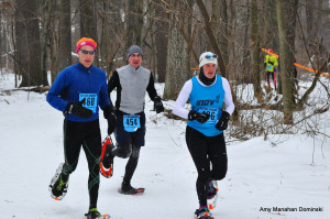 1-Snowshoe 2015 Eau Claire Amy Rusiecki wins silver w Erik Wight (l) trail friend and