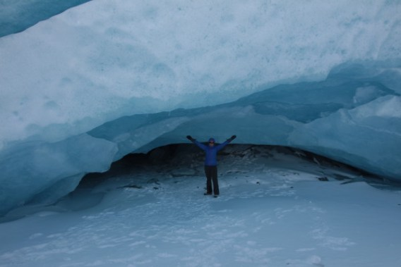 Inside the Athabasca Glacier Ice Cave