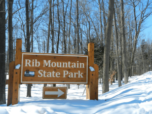 Rib Mountain State Park sign
