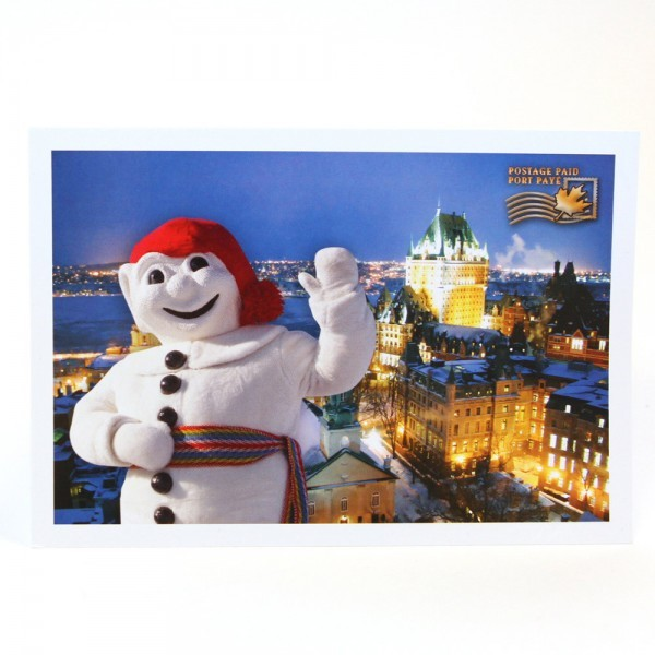 "Send this prepaid postcard back home with a note: ""Having great time; don't interrupt!"""