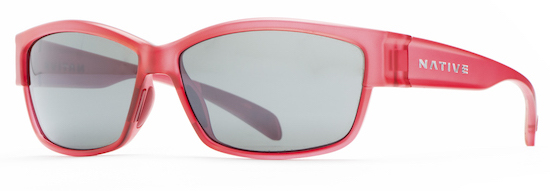 Native Eyewear's Toolah sunglasses in Red Frost.