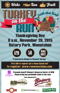 Turkey day article 2015 Wenatchee, Washington