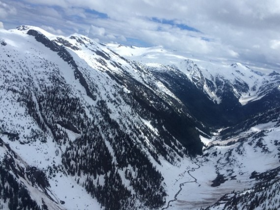 example avalanche path for avalanche safety