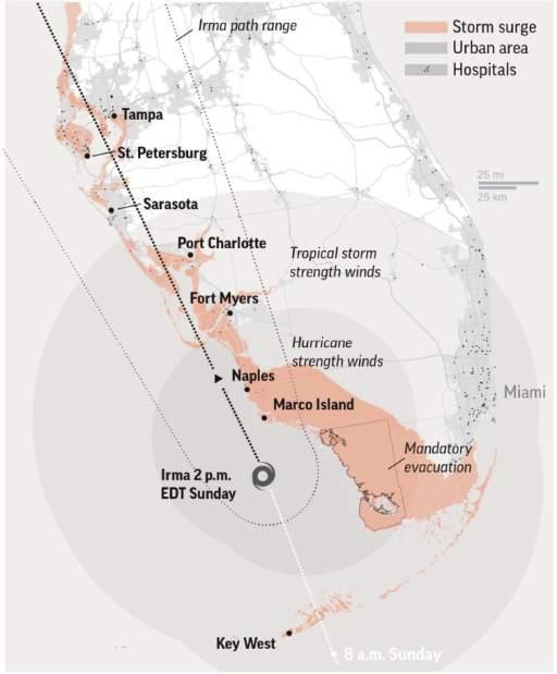 Hurricane Irma Path Map : hurricane, Hurricane, Images, TribLIVE.com