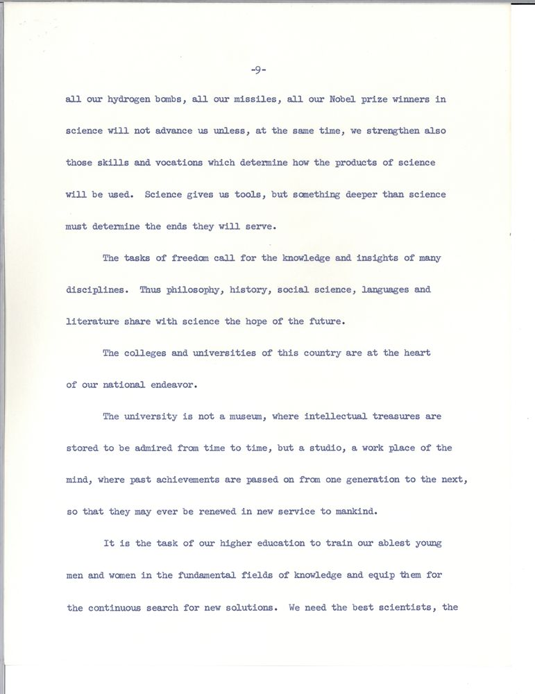 Address at University of Washington centennial, Seattle