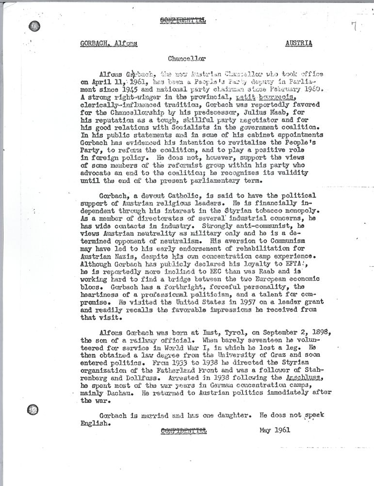 USSR: Vienna meeting: Background documents, 1953-1961