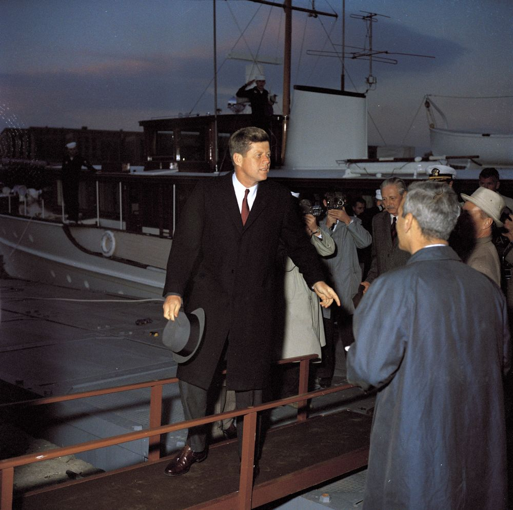 KN C17430 President John F Kennedy And Prime Minister Of