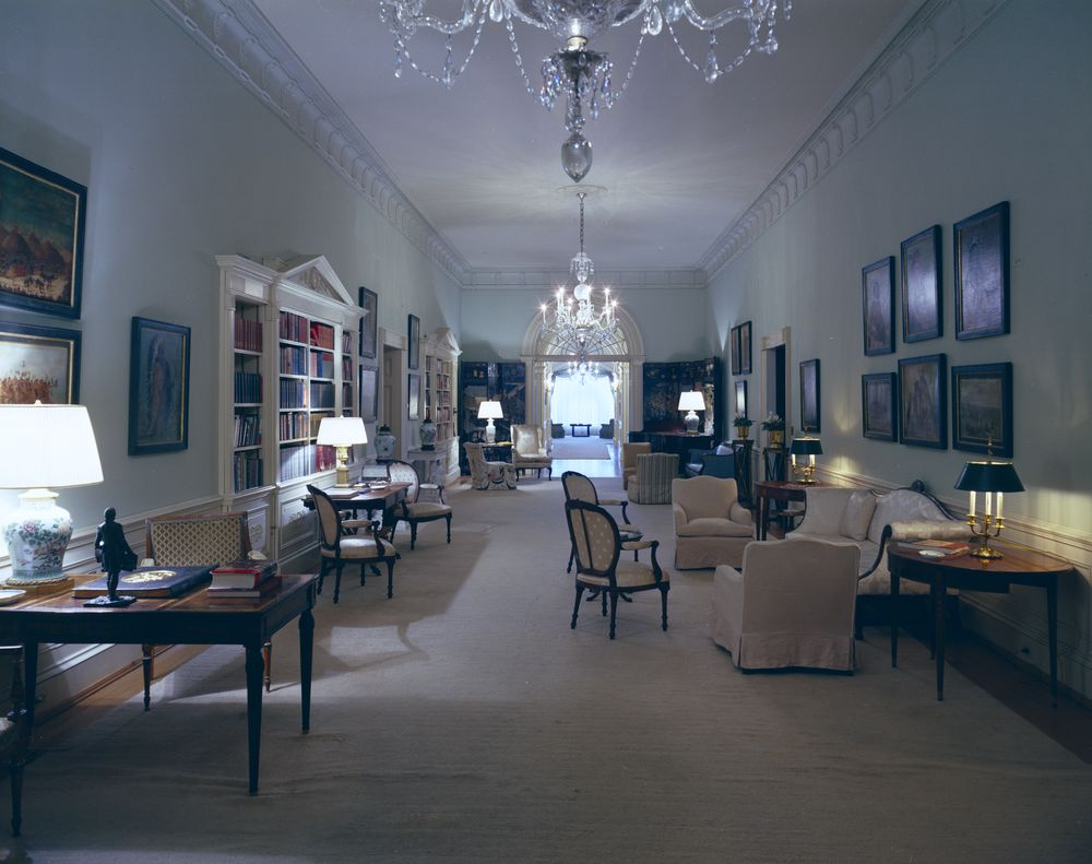White House Rooms SecondFloor Center Hall  John F Kennedy Presidential Library  Museum