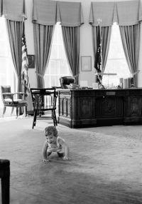 KN-22051. John F. Kennedy, Jr., Visits Oval Office - John ...