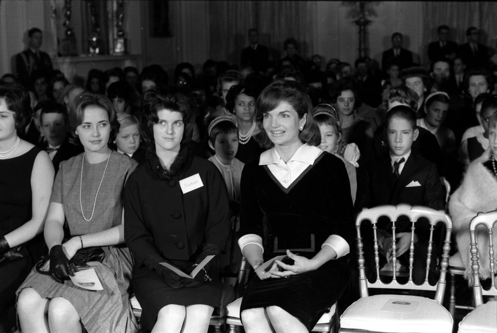 KN25056 First Lady Jacqueline Kennedy Attends White