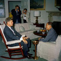 Jfk Rocking Chair Toys R Us Canada Bean Bag Chairs Kn-c18061. President John F. Kennedy With Nguyễn Đình Thuận, Vietnamese Secretary Of State In ...