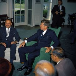 Jfk Rocking Chair Break Room Table And Chairs Kn-c18319. President John F. Kennedy Meets With Mohammad Ayub Khan, Of Pakistan - ...