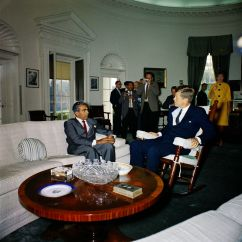 Oval Office Chair Oak Table And Chairs Kn-c19249. President John F. Kennedy Meets With Cheddi Jagan, Premier Of British Guiana - F ...