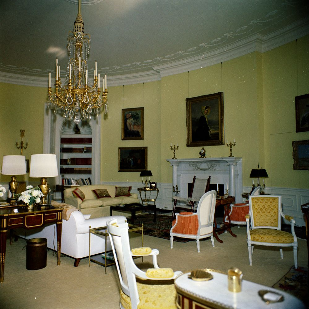 White House Rooms Yellow Oval  John F Kennedy Presidential Library  Museum